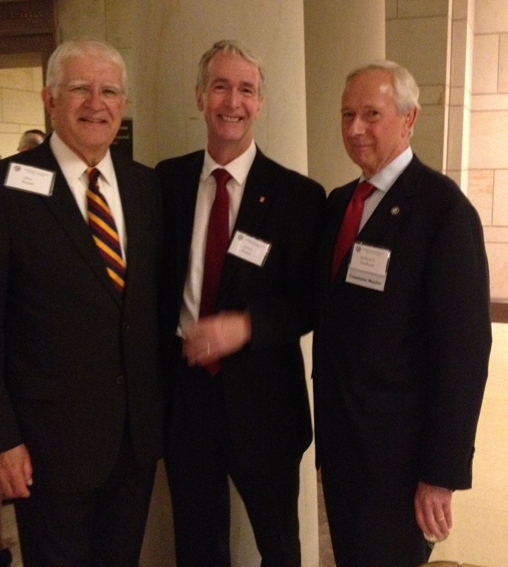 Jeff with Presidents Hennesey and Broadhead