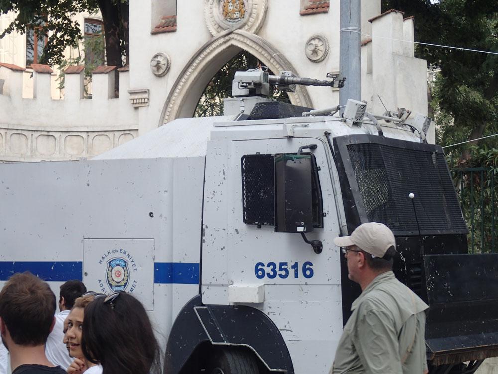 Police Water Cannon near Taksim Square