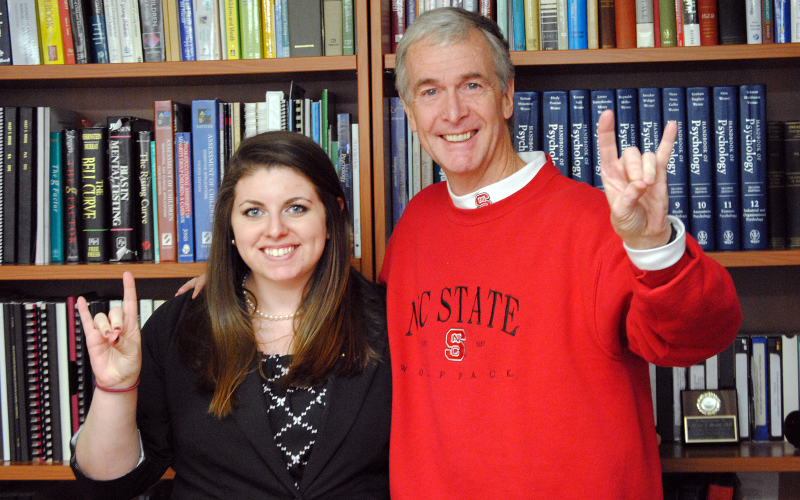 Dean for a Day Courtney Ross and Humanities and Social Sciences Dean Jeff Braden