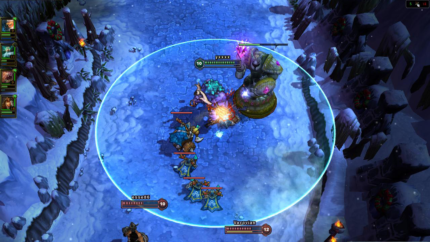 Screenshot from League of Legends game play