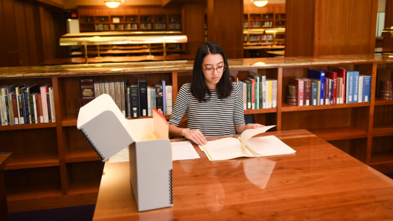 Anna Spencer works in D.H. Hill Library