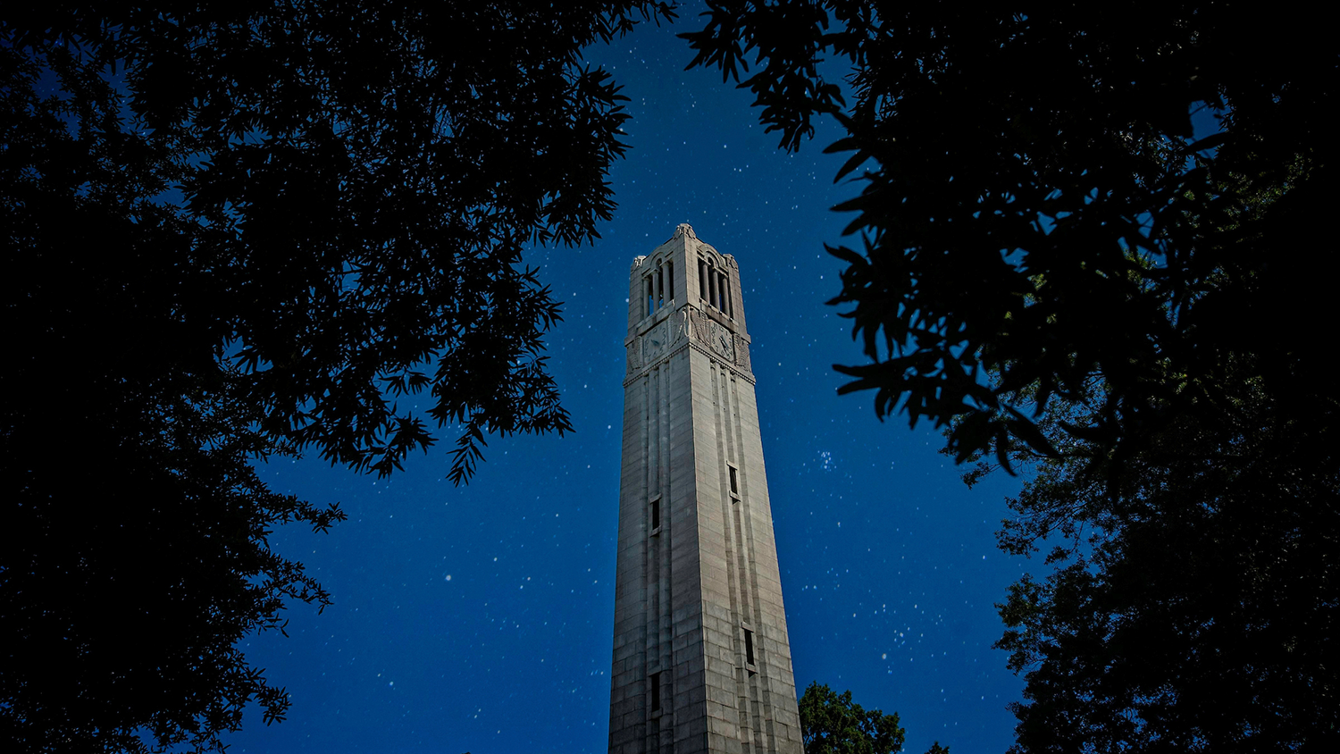 belltower against the starry night sky