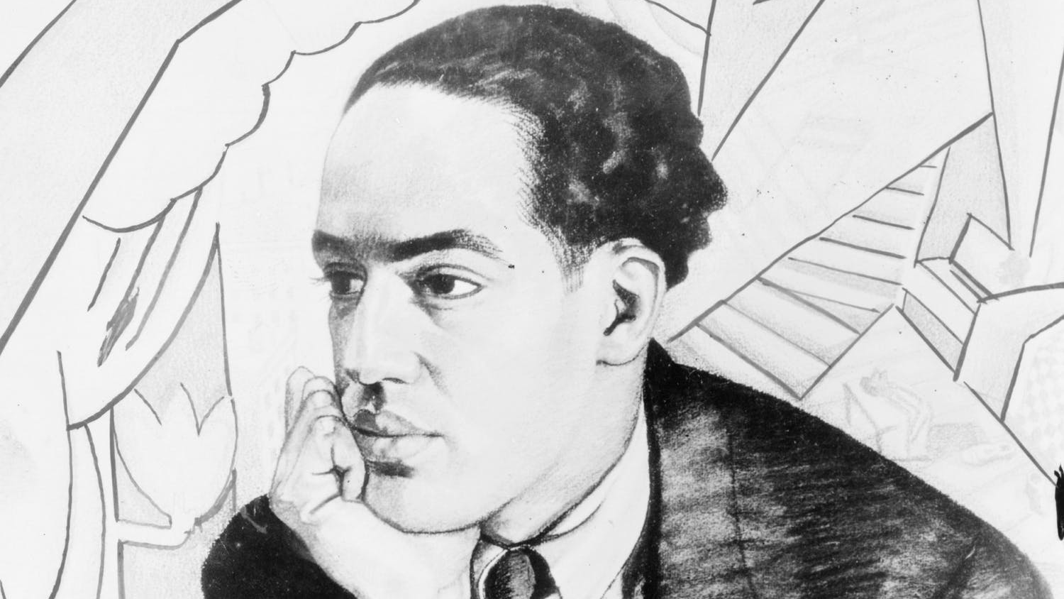 sketch of langston hughes