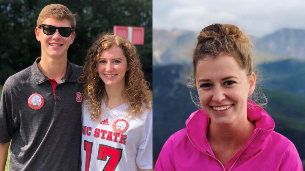 students wearing NCState gear