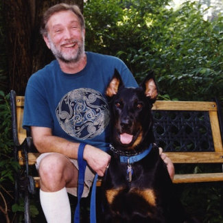 David Austin with dog