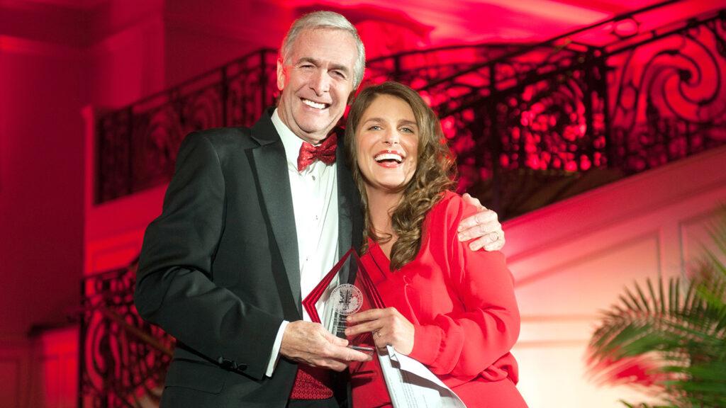 Dean Braden and Vivian Howard pose together
